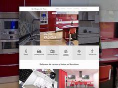 Diseño, programación y Posicionamiento Web de la empresa líder de reformas de cocinas y cuartos de baños de Barcelona. Boutique, Desktop, Renovation, Design Websites, Bathroom, Design Web, Quartos, Boutiques