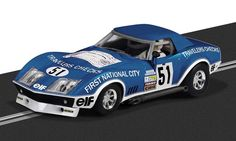 The Scalextric Chevrolet Corvette Stringray is a slot car from the Scalextric Rally and Road car range. Jack O'connell, Chevrolet Corvette Stingray, Cars 1, Slot Cars, Race Cars, Slot Machine, Hot Rods, Porsche, Las Vegas