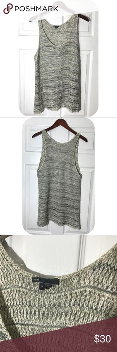 Vince cotton blend Knit tank top festival GUC - marled Knit tank top - no piling Vince Tops Tank Tops