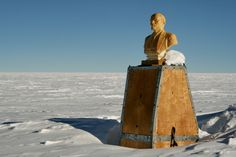 Bust of Lenin in the South Pole