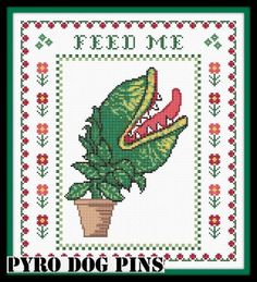 Feed Me/PDF - Little Shop of Horrors Cross Stitch Sampler - INSTANT DOWNLOAD