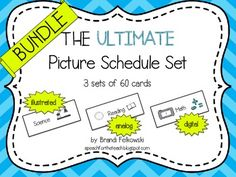 Picture schedules are a great way to ease transitions and reduce anxiety for all students, especially those with autism spectrum disorders and anxiety related disabilities.