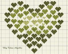 hearts #cross-stitch