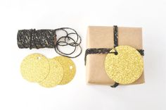 Glitter Tags and Twine Set Glitter Gifts, Gold Glitter, Papers Co, Carousel, Twine, Gift Tags, Place Card Holders, Creative, Handmade