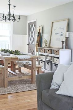 Awesome 53 Awesome Modern Farmhouse Dining Room Design Ideas. More at https://trendecorist.com/2018/03/05/53-awesome-modern-farmhouse-dining-room-design-ideas/