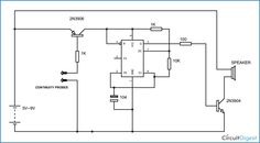 Building your own continuity tester circuit using npn transistor continuity tester circuit diagram using 555 timer ic ccuart Choice Image