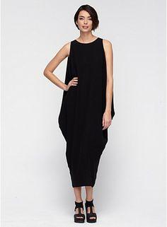 Scoop Neck Full-Length Wedge Dress in Silk Georgette Crepe