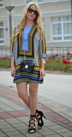 Balkan style by M.: Scarf print dress