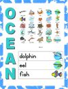Publishers :: KinderReaders :: Ocean Picture Dictionary and Word Wall Cards
