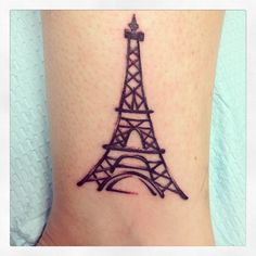 Eiffel Tower on inside of my ankle