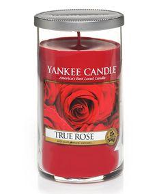 Loving this True Rose 12-Oz. Medium Perfect Pillar Candle on #zulily! #zulilyfinds