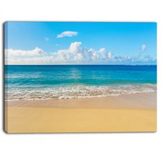 Shop for DesignArt - Calm Beach and Tropical Sea - Photo Canvas Art Print. Get free delivery On EVERYTHING* Overstock - Your Online Art Gallery Store! Seascape Paintings, Landscape Paintings, Unicorn Painting, Sea Photo, Beach Art, Beach Canvas, Beach Scenes, Photo Canvas, Beach Pictures