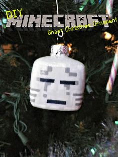 Minecraft Ghast Christmas Ornament Tutorial