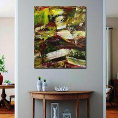 Moss and Rust 1 (2021) - ABSTRACT ART - NESTOR TORO - LOS ANGELES Large Painting, Acrylic Painting Canvas, Abstract Painters, Abstract Art, Abstract Expressionism Art, Painting Edges, Rust, Fine Art, Visual Arts