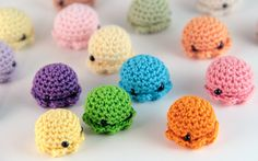 5 PIECE SET MiniPus Solid Colors  Miniature Octopus by PocketSushi, $13.50