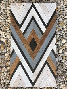 Rustic Wood Walls, Wood Wall Decor, Wooden Wall Art, Diy Wall Art, Scrap Wood Art, Reclaimed Wood Projects, Diy Wood Projects, Wood Crafts, Wood Mosaic