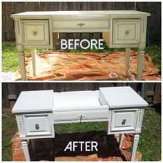 How to paint old furniture without sanding http://www.hellocrisst.com/2014/06/diy-repainting-old-vanity-without.html