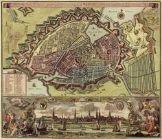 Map of Hamburg (1730) oh my goodness, what comes of lines and numbers is art, as well