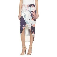 Hi-Lo Tulip Maxi Skirt Painterly Print - Mossimo