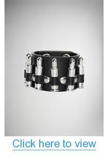 Black $ Silver Bullet Stud Cuff #Black # #Silver #Bullet #Stud #Cuff
