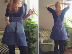fox.and.rose's Delphine dungaree hack - original sewing pattern in Love at First Stitch