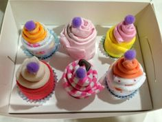 Baby Girl pink and purple cupcakes