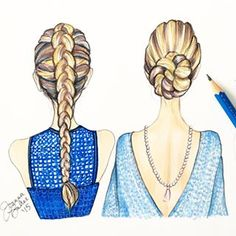 Joanna Baker: braid and twisted chignon