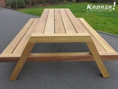 Landscaping Software - Offering Early View of Completed Project Moderne Teak Picknicktafel Kapaza. Outside Furniture, Diy Outdoor Furniture, Garden Furniture, Outdoor Decor, Diy Picnic Table, Picnic Table Plans, Pinic Table, Woodworking Projects Diy, Woodworking Furniture