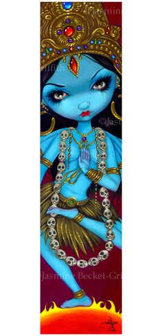 Kali hindu india goddess fairy art print by Jasmine Becket-Griffith BIG 4.5x18.5. $29.99, via Etsy.