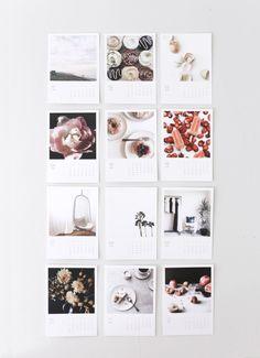 Make a DIY calendar for 2016 via Anne Sage