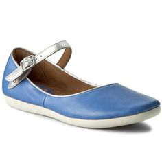 Polobotky CLARKS - Feature Film 261175644 Blue Leather