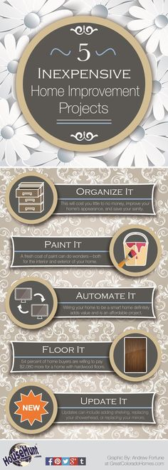 Best Home Improvement Projects #Infographic http://www.househunt.com/news-realestate/best-home-improvement-projects/