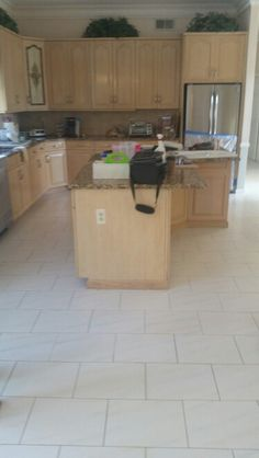 Dirty Grout Kitchen Tile Floor Holmdel NJ