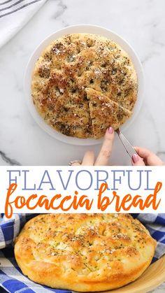 Homemade Focaccia Bread, Focaccia Bread Recipe, Easy Bread Recipes, Vegan Recipes, Other Recipes, Whole Food Recipes, Bad Food, Bread Board, Vegan Food