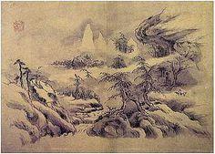 (Korea) by Hyeonjae Shim Sa-jeong (1707-1769). ca 18th century CE. Joseon Kingdom, Korea. color on paper.
