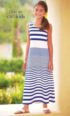 From CWDkids: Nautical Stripe Maxi Dress