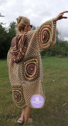 Crochet Coat, Crochet Jacket, Crochet Cardigan, Crochet Clothes, Granny Square Sweater, Granny Square Crochet Pattern, Granny Square Afghan, Crochet Squares Afghan, Crochet Granny