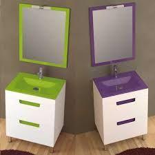 resultat duimatges de lavamanos de cristal de colores con mueble