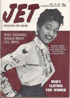 SEP 1954 JET MAGAZINE VOL.6 #20 (Ramona Bruce) Jet Magazine, Black Magazine, Life Magazine, News Magazines, Vintage Magazines, Vintage Woman, Vintage Black, Cover Pages, Album Covers