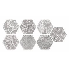 Shop Faber  Moroccan 10-in x 12-in Decorative Silver Hexagon Porcelain Floor Tile at Lowe's Canada. Find our selection of floor tiles at the lowest price guaranteed with price match + 10% off.