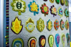 Examples from a class taught by Sue Spargo about embellishing.  Posted to Material Obsession blog.