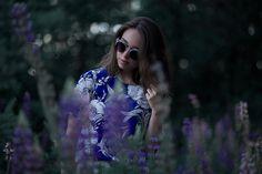 Sara Lehtomaa: Contemporary Designer Retro Circle Super Half Frame Flat Bar Sunglasses 8525