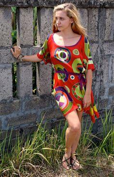 Hand Batiked Lotus Dress by EvalutionDesignBali