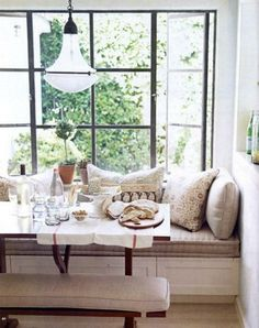 Or whitewashed with neutrals. Oatmeal. Cream.