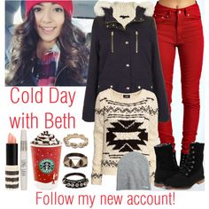Cold Day with Beth (please follow my new account!), created by courtneycarson3 on Polyvore