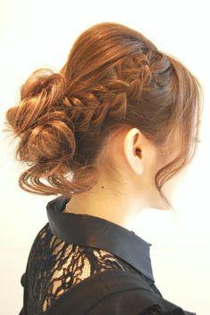 Hairstyles 2014 - loose updo with braids | ヘアスタイル 2014 - ゆるふわ編み込みアレンジ (ヘアスタイリスト 前田 真吾)