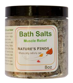 Bath Salts Muscle Relief. All Natural from Nature's Finds. Get relief for those aching muscles and joints without medication. Shipped worldwide for your convenience.