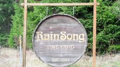 RainSong Vineyard & Winery is tucked into the foothills of Oregon's coastal range just northwest of Eugene in the small town of Cheshire.  I had a chance to ask owner Mike Fix about their much talked about Barrel Bottling Program.