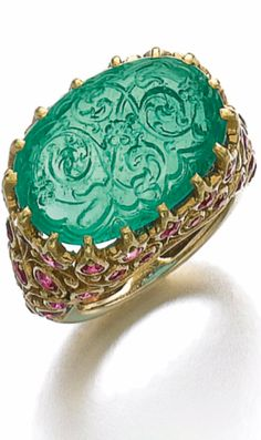 Emerald and ruby ring - Cartier 1950s