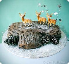Buche de Noel with reindeer!